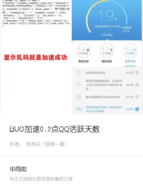 BUG加速0.2点QQ活跃天数